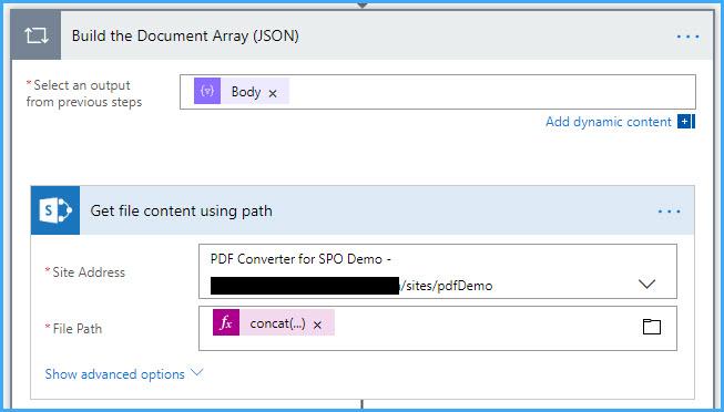 Merge document array to PDF – Encodian Customer Help